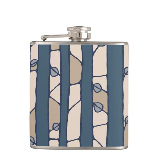 Into the Woods blue Flask Hip Flasks