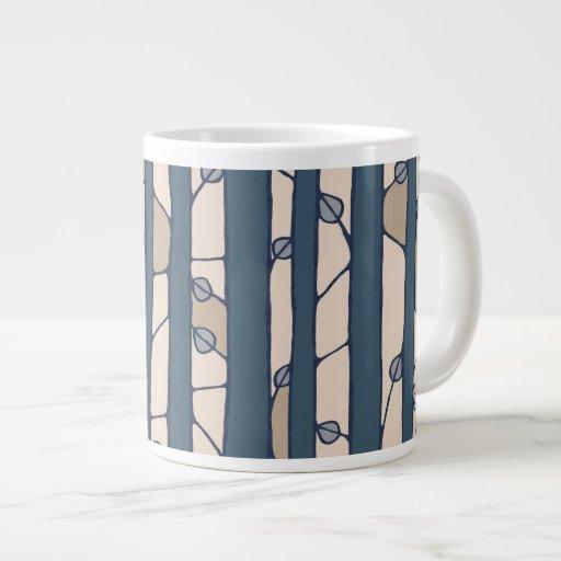 Into the Woods blue Jumbo Mug Extra Large Mug