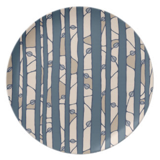 Into the Woods blue Melamine Plate Dinner Plate