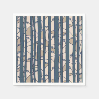 Into the Woods blue Paper Napkins Disposable Napkins