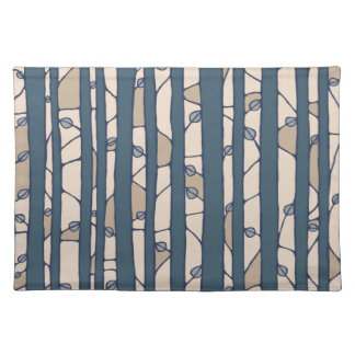 Into the Woods blue Placemats Place Mat