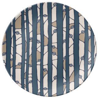 Into the Woods blue Porcelain Plate Porcelain Plates