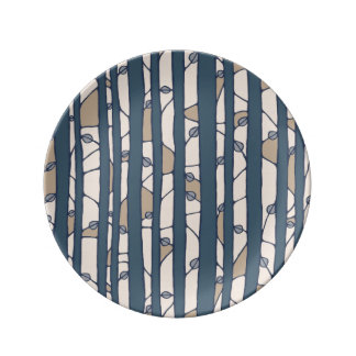 Into the Woods blue Porcelain Plate small Porcelain Plates