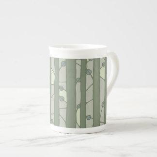 Into the Woods green Bone China Mug
