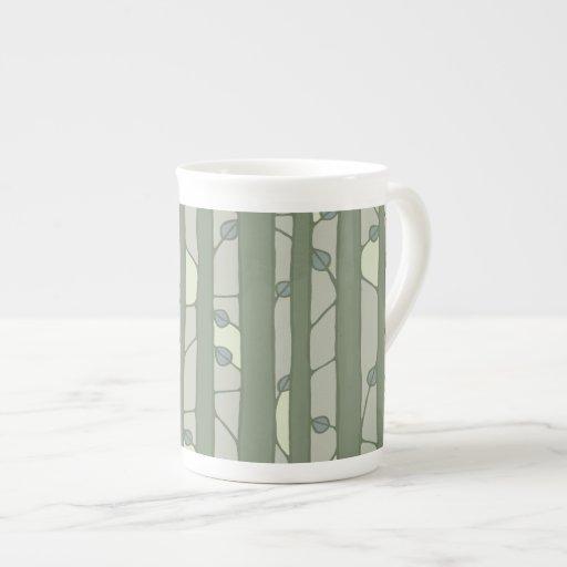 Into the Woods green Bone China Mug Porcelain Mug