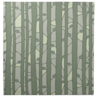 Into the Woods green Cloth Napkins