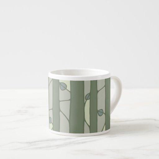 Into the Woods green Espresso Mug Espresso Mugs