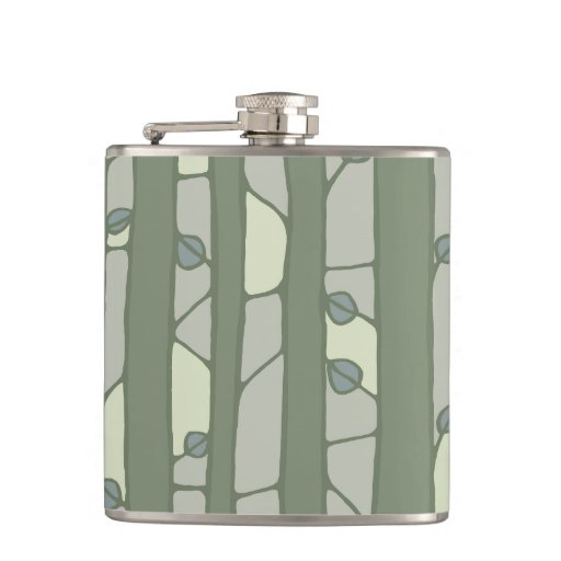 Into the Woods green Flask Flask
