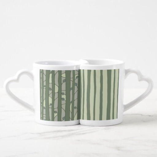 Into the Woods green Lovers Mug Set Lovers Mug