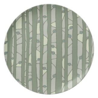 Into the Woods green Melamine Plate Party Plate