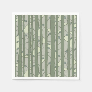 Into the Woods green Paper Napkins Disposable Napkin