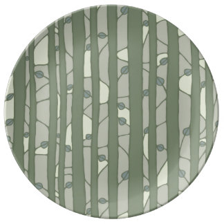 Into the Woods green Porcelain Plate Porcelain Plates