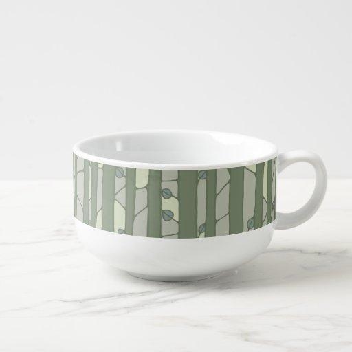 Into the Woods green Soup Mug Soup Mug