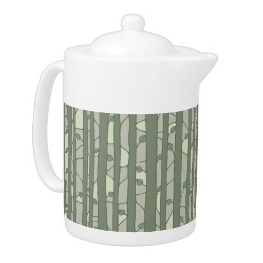 Into the Woods green Teapot