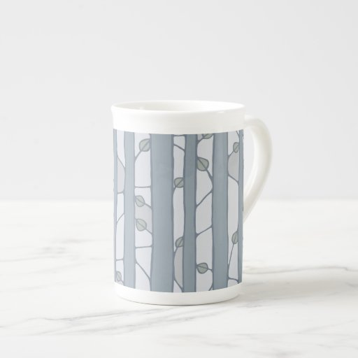 Into the Woods grey Bone China Mug Porcelain Mugs