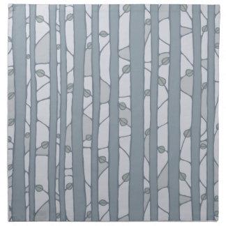 Into the Woods grey Cloth Napkins Cloth Napkin