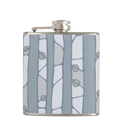 Into the Woods grey Flask Flask