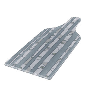 Into the Woods grey Glass Cutting Paddle Cutting Boards