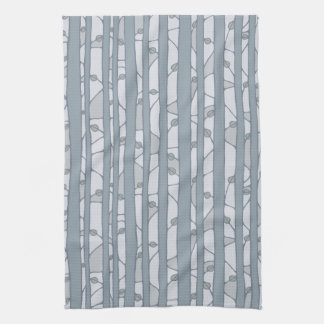 Into the Woods grey Kitchen Towel Hand Towels