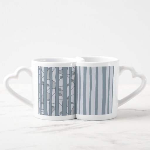Into the Woods grey Lovers Mug Set Lovers Mugs
