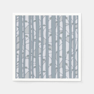Into the Woods grey Paper Napkins Disposable Napkins