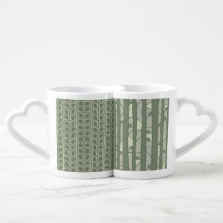 Into the Woods Leaves green Lovers Mug Set