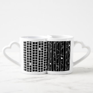 Into the Woods Leaves white Lovers Mug Set
