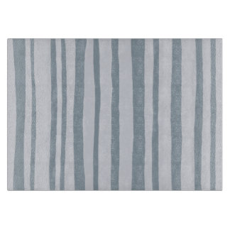 Into the Woods Stripes grey Glass Cutting Board