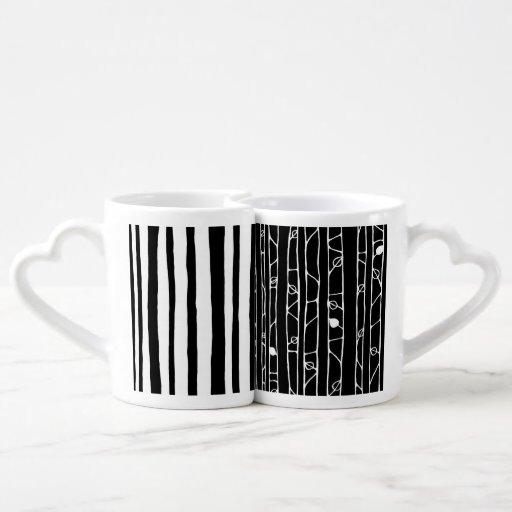 Into the Woods white Lovers Mug Set Couple Mugs