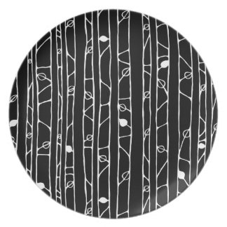 Into the Woods white Melamine Plate Plates