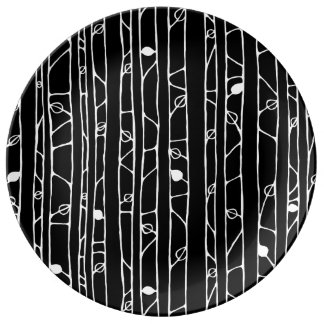 Into the Woods white Porcelain Plates