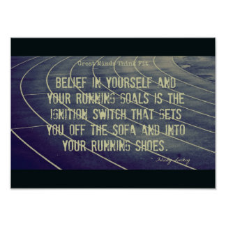Into Your Running Shoes! Poster