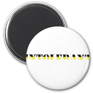 intoleran t-shirt 6 cm round magnet
