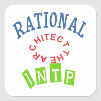 INTP Rationals Personality Square Stickers