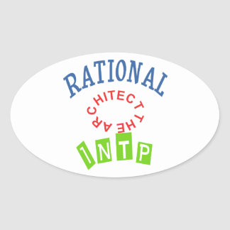 INTP Rationals Personality Oval Sticker