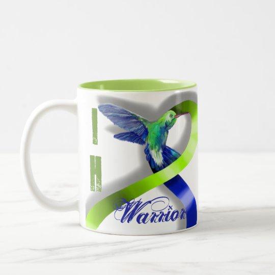 Intracranial Hypertension Warrior Two-Tone Coffee Mug