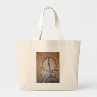 Intradimensional labyrinth canvas bag