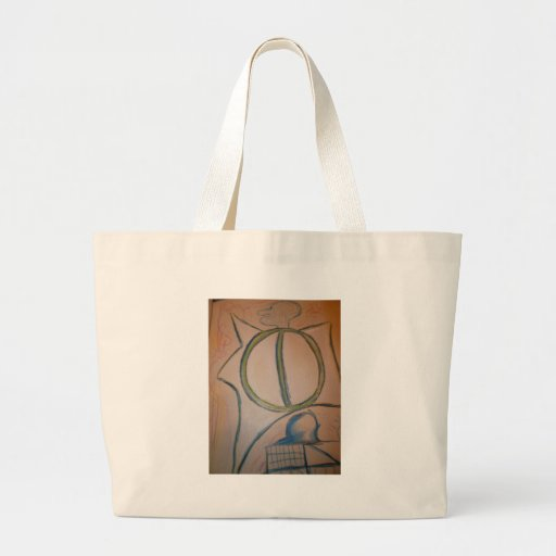 Intradimensional labyrinth canvas bag