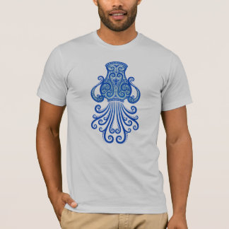 Intricate Blue Tribal Aquarius T-Shirt