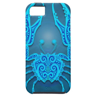 Intricate Blue Tribal Cancer, tight iPhone 5 Cover