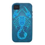 Intricate Blue Tribal Scorpio
