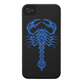 Intricate Blue Tribal Scorpion iPhone 4 Cases