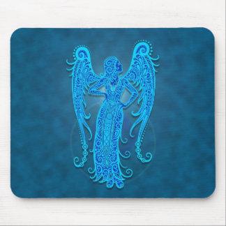 Intricate Blue Tribal Virgo Mouse Pad