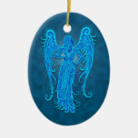 Intricate Blue Tribal Virgo Ornament