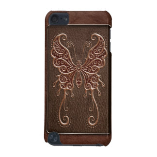 Intricate Brown Leather Butterfly iPod Touch (5th Generation) Cases
