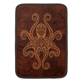 Intricate Brown Stone Octopus MacBook Air Sleeves
