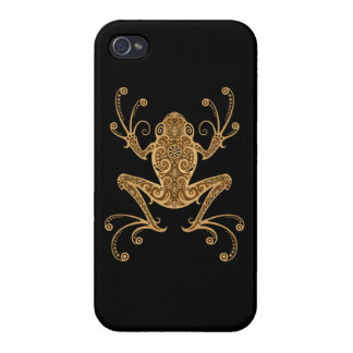 Intricate Brown Tree Frog iPhone 4 Case