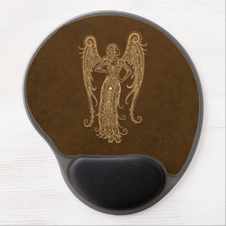 Intricate Brown Virgo Zodiac Gel Mouse Pads