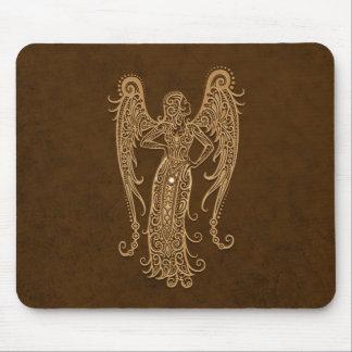 Intricate Brown Virgo Zodiac Mousepad
