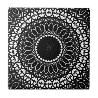 Intricate Color-it-yourself Kaleidoscopic Pattern Tile